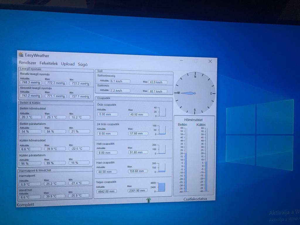 windows képernyőn a kezelőfelület