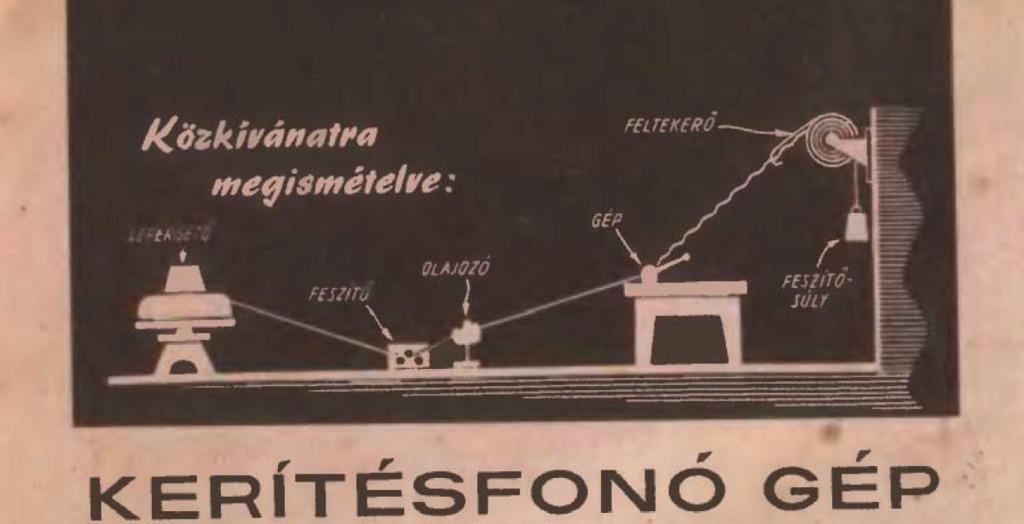 Kerítésfonó gép az Ezermester újságban